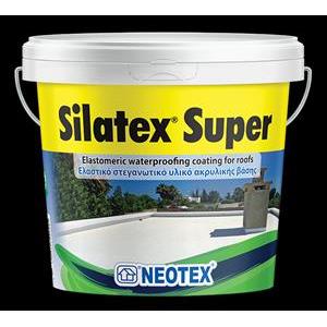 Silatex Super 12kg Λευκό Ακρυλικά Επαλειφόμενα