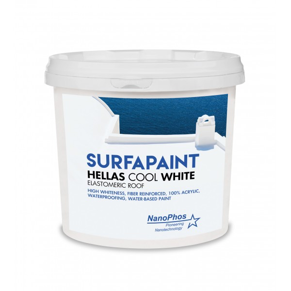 SURFAPAINT HELLAS COOL WHITE 10lt Μόνωση - Στεγανοποίηση